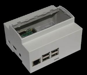 DIN rail 6M mounting Enclosure for Raspberry Pi B+ / Pi 2 / Pi 3