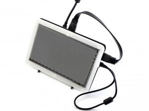 """Ecran LCD Tactile 7"""" HDMI 1024x600 avec Boitier"""