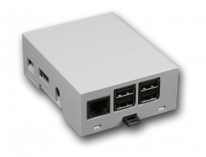 DIN rail 4M Compact Enclosure for Raspberry Pi B+ / Pi 2 / Pi 3 / Pi3 B+