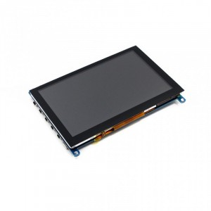 "Ecran LCD Tactile 5"" HDMI 800×480 , Capacitif"