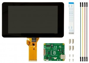 "Ecran tactile LCD 7"" Raspberry Pi Officiel, Capacitif 800x480"