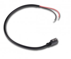 Angled Micro USB Power cable 20cm