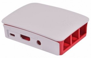 Official Red & White Casing for Raspberry Pi 3 Model B & Pi 3 Model B+