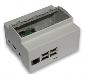DIN rail 6M mounting Enclosure for Raspberry Pi B+ / Pi 2 / Pi 3 / Pi3 B+