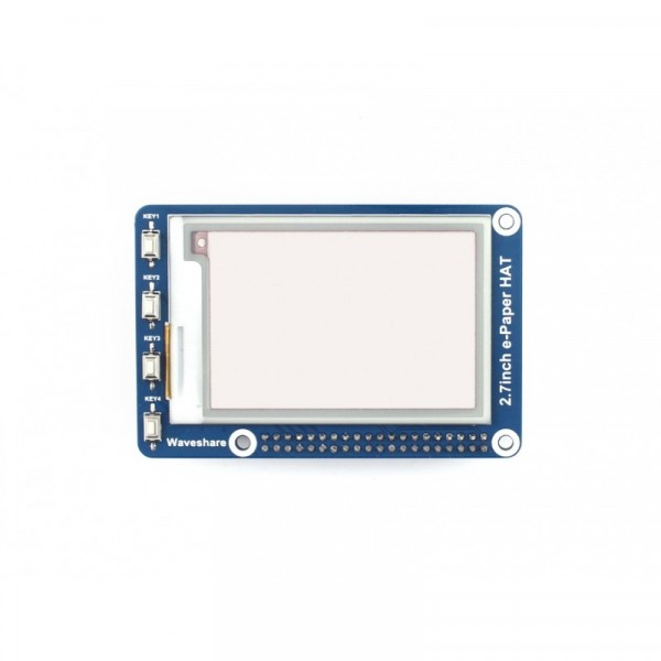 264x176, 2.7 inch E-Ink display HAT for Raspberry Pi, three colors