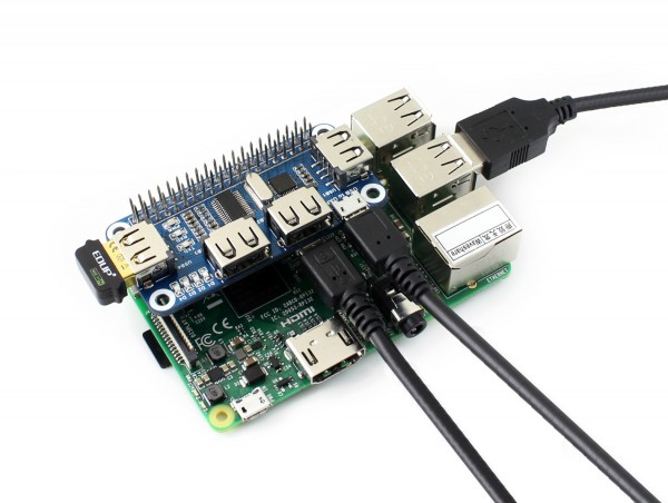 4 Port USB HUB Hat for Raspberry PI and Pi Zero