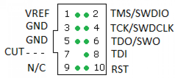 ARM-JTAG-20-10 Adaptater