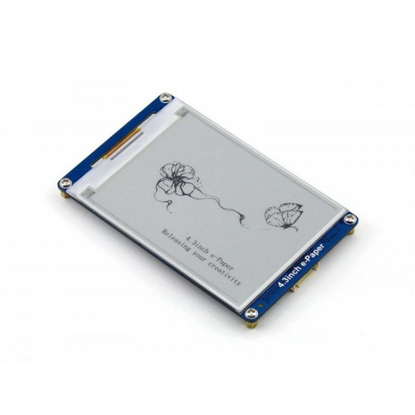 800x600, 4.3 inch E-Ink display module with UART