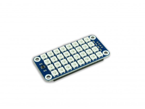 True color 8x4 RGB LED HAT for Raspberry Pi