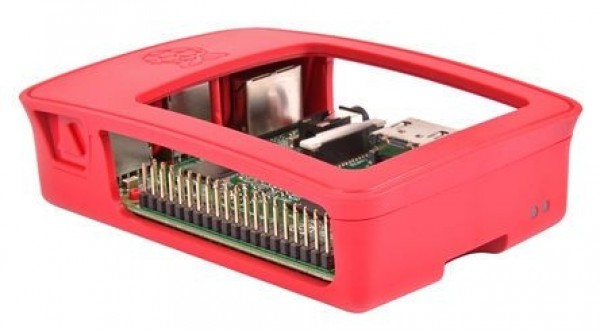 Official Casing for Raspberry Pi 3, Model B (Red & White)