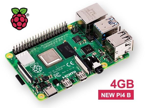 New Raspberry PI 4 Model B - 4Gb (View 0)