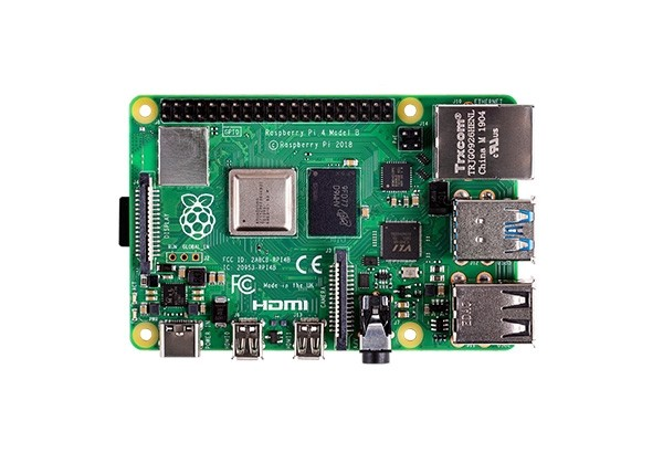 New Raspberry PI 4 Model B - 4Gb (Top view)