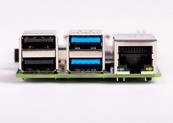 New Raspberry PI 4 Model B - 4Gb (Connectors side view)