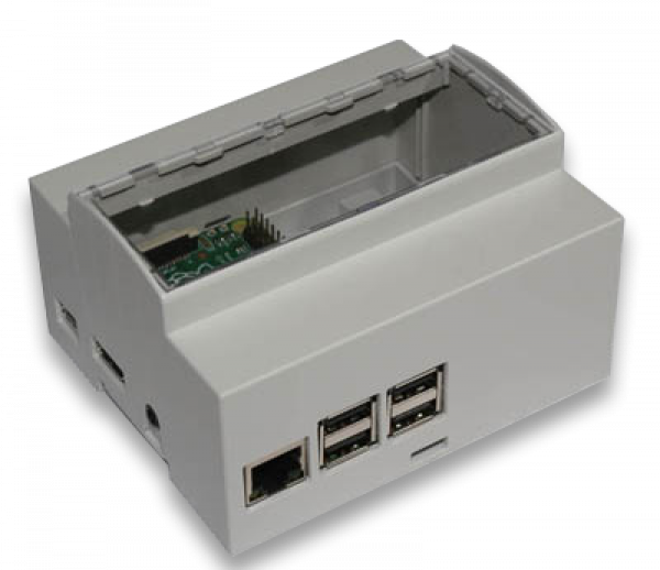 DIN rail 6M mounting Enclosure for Raspberry Pi B+ / Pi 2 / Pi 3