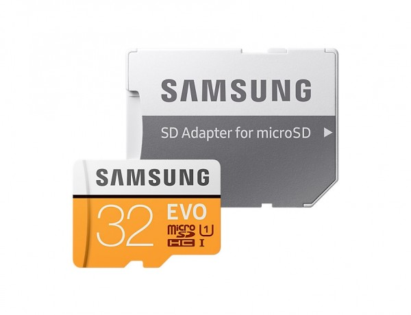Samsung EVO 32GB MicroSDHC Memory with SD Adapter