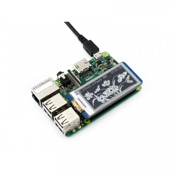 250x122, 2.13 inch E-Ink display HAT for Raspberry Pi