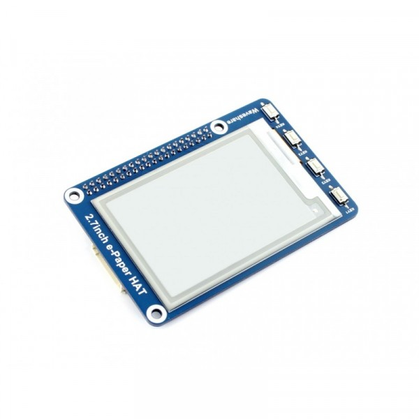 264x176, 2.7 inch E-Ink display HAT for Raspberry Pi