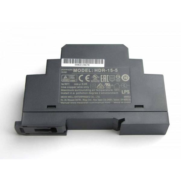 DIN Rail power supply Kit 5V 2,4A Micro USB angled connector