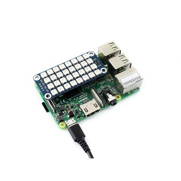 True color 8x4 RGB LED HAT for Raspberry Pi