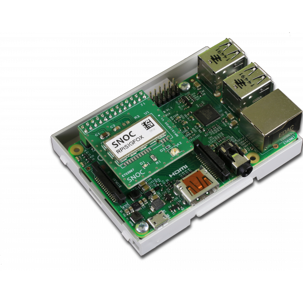Kit SigFox communication board for Raspberry Pi with DIN Enclosure included