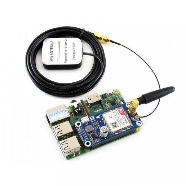 NB-IoT / eMTC / EDGE / GPRS / GNSS HAT for Raspberry Pi