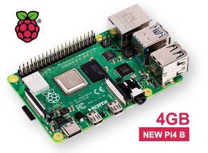 Nouvelle carte Raspberry PI 4 modèle B - Version 4Gb (Vue 1)