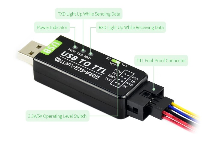USB To TTL LED indicator